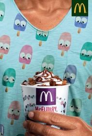 麦当劳创意雪糕广告设计赏析
