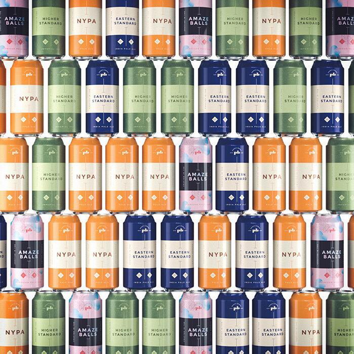 色彩鲜艳的啤酒包装设计