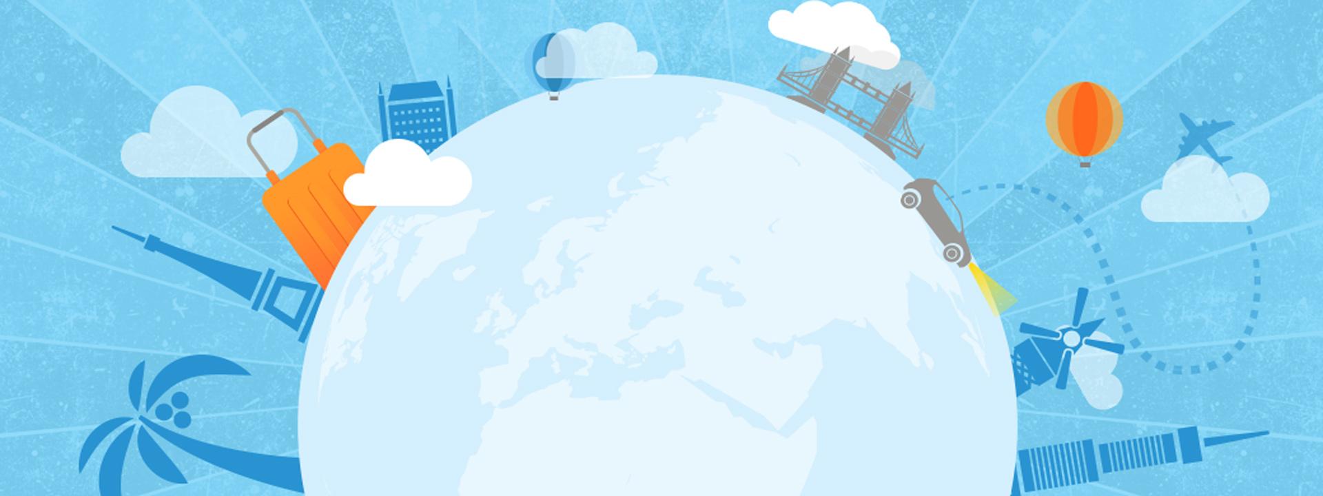 地球素材 生活背景图 免费banner 蓝色背景 地球