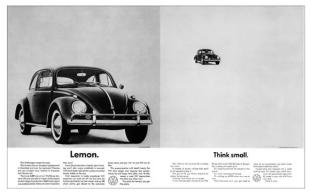 大众已停产甲壳虫汽车文案,成为经典